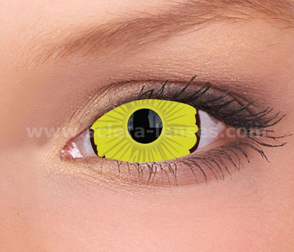 Deathly Yellow Mini Sclera Contact Lenses (1 pair)