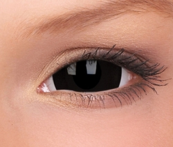Mini Black Sclera Prescription Contact Lenses (1 pcs)