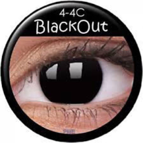 Black Out Prescription Contact Lenses (1 pcs)