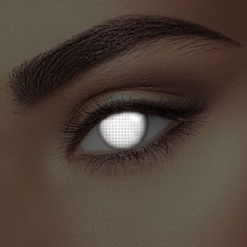 Glow White Screen Contact Lenses (1 pair)
