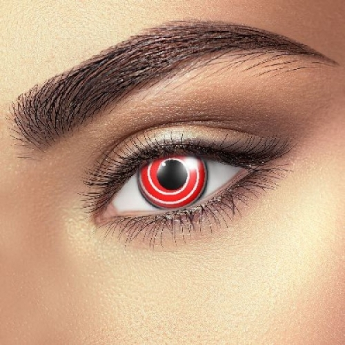 Red Spiral Contact Lenses (1 pair)