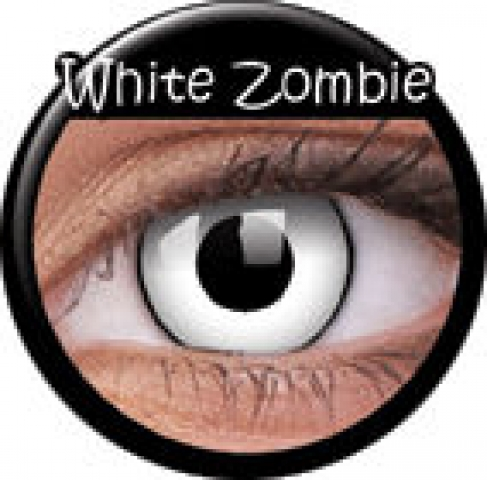 White Zombie Prescription Contact Lenses (1 pcs)