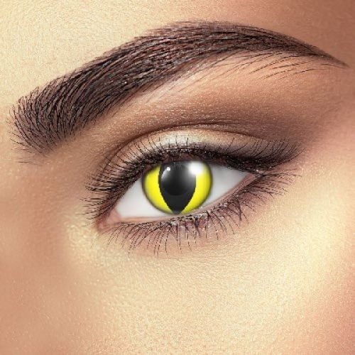 Yellow Cat Contact Lenses (1 pair)